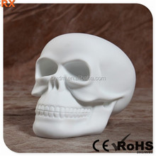 POP Halloween blank Skull vinyl toy for decoration, DIY unique Skull pvc toy as adorn, OEM vinyl toy Shenzhen SRX manufacturer