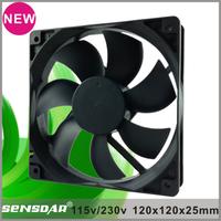 High speed quiet 120x120x25mm ac axial fan 120mm low noise ac fan for LED Screen LED light