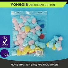 colored cotton pad/cotton wool ball