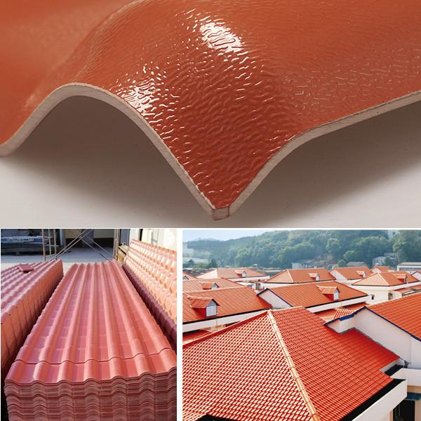 Jieli New Spanish Style Plastic Roof Tile Buy Plastic