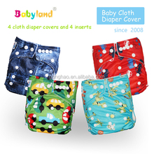 Newest patterns China factory wholesales organic bamboo cloth diapers