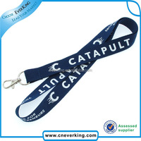 flashing funky full color polyester lanyard with practical metal hook