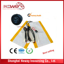 carbon fiber 12V car seat heater can accept flexiable payment term for bulk orders