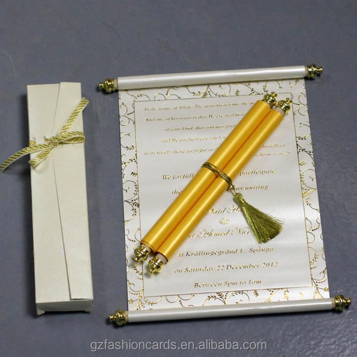 2014 New Design Luxury Elegant Scroll Wedding Invitations | Luxury ...