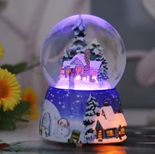 Christmas gift love Family water snow globe