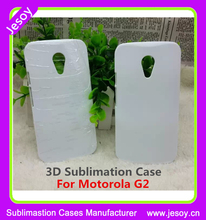 JESOY White Blank Sublimation Case For Motorola G2 Covers Cases