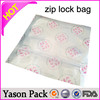 Yasonpack custom plastic zip bag pe slider ziplock bag hanger ziplock bag