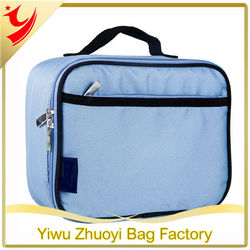 Durable fabric insulated fitness cooler lunch bag with inner mesh pocket