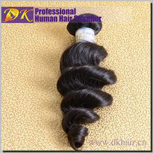 DK Best Quality Hair Tangling Free Loose Wave Virgin Indian Remy Weft Hair