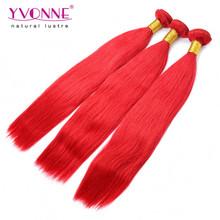 2015 New arrival brazilian hair, 3 bundles red brazilian hair weave