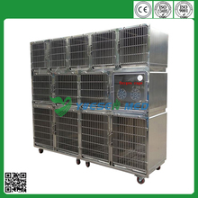 Hot sale good quality vet stainless steel large animal cages