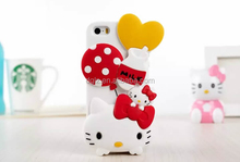 best price lovely hello kitty shaped mobile phone case with opp bag packing