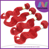 Newness hot selling red colored 100% human hair no mix factory wholesale price beautiful spirit hair
