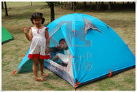 3 person double layer tent for camping tent making materials small tent LHYYZP-8109