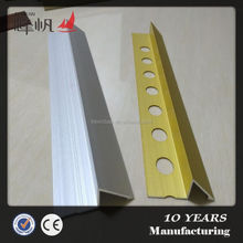 Decorative metal tile outside corner tile trim for marble edge