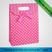 wholesale pink shopping gift paper bag