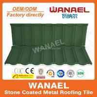 Classical Wanael thermal insulation stone coated metal roof tile for home/villa house plans