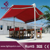 double opened swing arm awning, open-air restaurant awning and canopy, patio awning folding awning