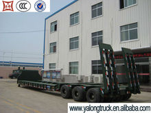 Best-selling in Vietnam 3 axles 60-80 tons Low bed semi trailer / lowboy semi trailer / lowboy