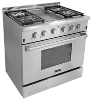 CSA industrial stoves and ovens for home used with grill top , stainless steel gas stove and oven