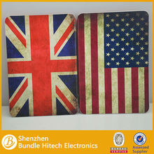 US UK Flag Style Wallet Leather Case For iPad Mini