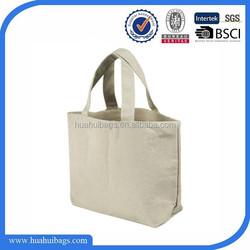 Hot sell Natural plain canvas tote bag
