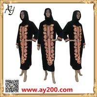 Wholesale Dubai Abaya Models Black Islamic Clothing Latest Moroccan Long Sleeve Abaya