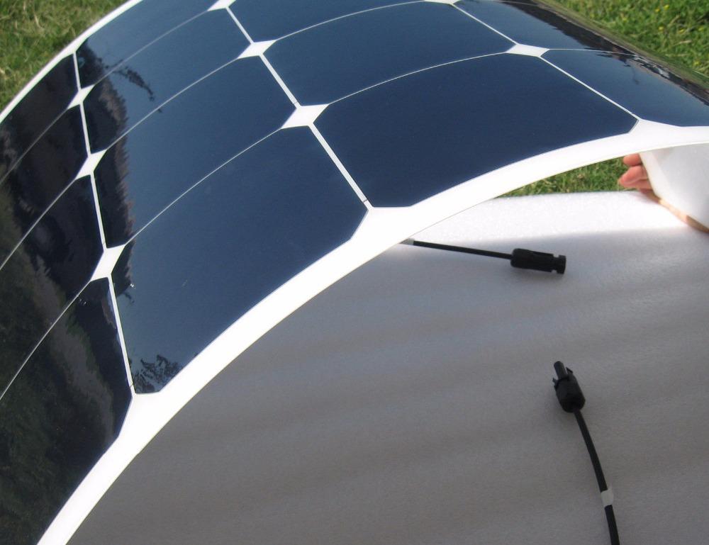 Sunpower acampamento célula, barco, uso 100w caravana painel solar flexível