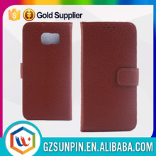 manufacturing wholesale Custom sublimation S6 pu leather wallet cover case