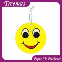 Logo promote printing custom oem car hanging funny freshener fragrance paper printing