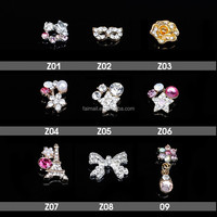 Cheap wholesale 3D nail art accessories metal alloy nail decoration