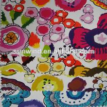 colorido impreso de cuero del pvc para los bolsos y los zapatos de uso