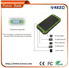 10000mah travel size solar panel charger with the largest solar panel for fasting charging