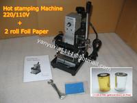 HOT FOIL STAMPING MACHINE TIPPER BRONZING PVC CARD TIPPER STAMPER PRINTING MACHINE 110/220V