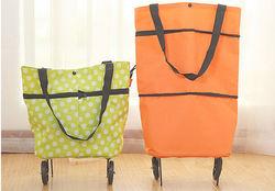Folding shopping bag with wheels, shopping bag with wheels, shopping cart bag