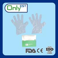 Disposable plastic veterinary pe gloves professional transparent