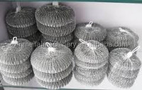 galvanized iron wire scrubber /kitchen cleaning ball /stainless steel mesh scourer