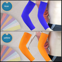 2015 spandex nylon compression cooling arm sleeves cover UV sun protection