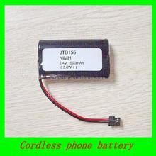Alibaba hot sale AA 2.4v 1500mAh cordless phone nimh battery pack replacement JTB155 battery