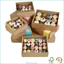 promotional paper cupcake box for food made of kraft paper