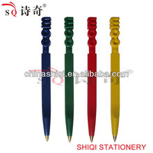 letter plastic ball pen for promotion or student