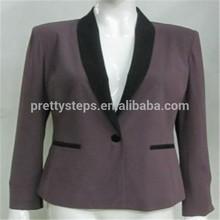 Pasos bastante 2015 venta al por mayor diseñador moda formal púrpura para mujer bolero de la chaqueta