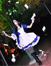C024 High Quality Alice Madness Returns Costumes cosplay for women sexy halloween costumes for women