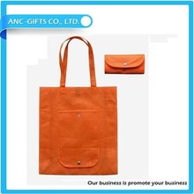 logo printed non woven foldable shopping bag