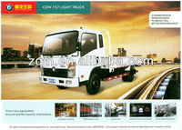High Quality With A/C China 1-15tons 4x2 double cab china mini van truck