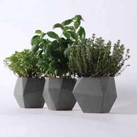 Cute Different Size Small High Quality Desk Bonsai Pot,Concrete/Cement Material Round Smart Plant Pot