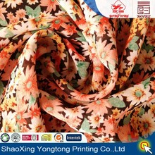fabric chiffon woven by polyester yarn in yongtong printing