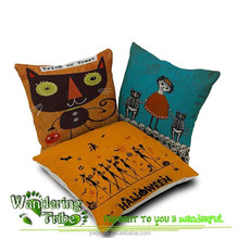 2015 New Hot Nordic Chair Pillow Personality witch skull Cushion Cover Creative Happy Halloween shape Nap pillow Cover Cute cat