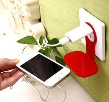 Phone Holder Foldable Wall Phone Charger Adapter Charging Holder for Tablet Cellphone Mobile Phone MP3 MP4 Holder