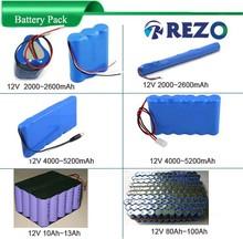 Manufactory OEM ODM 12v battery , 18650 li ion 12v rechargeable battery